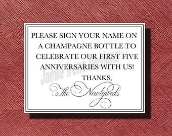 Unique Wedding Guest Book Sign or Poster DIY