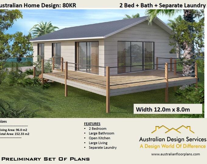Plan 80 Kr / Concept House Plans For Sale | House Plan SALE  | Living Area 96 m2  Total Area 152 m2