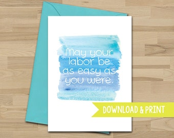 Pregnancy Card - Funny - Congratulations - Baby - Expecting - Printable - Greeting Card