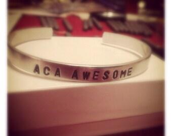 Aca Awesome aluminum bangle bracelet