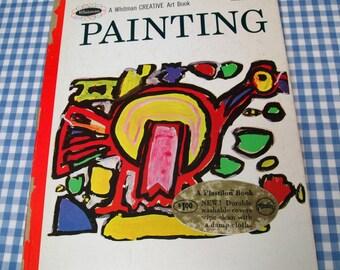 painting - a whitman creative art book, vintage 1966 children's book