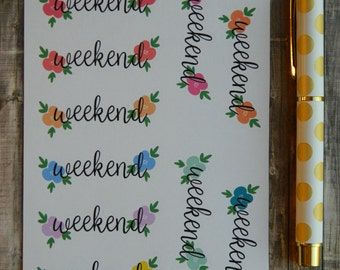 Weekend Banner Sticker Sheet for Life Planners (A-059)