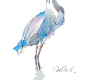 "Blue Heron, Giclee Print, 9x12"""