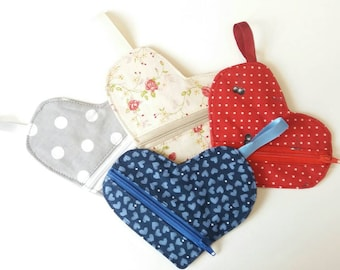Heart Knitting Notions pouch