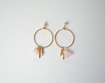 Pink Beach earrings