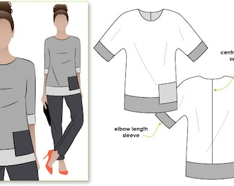 Maddie Woven Top - Sizes 22, 24, 26 - Women's Sewing Pattern - Blouse / Top Pattern by Style Arc