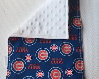 Chicago Cub Glitter Burp Cloth