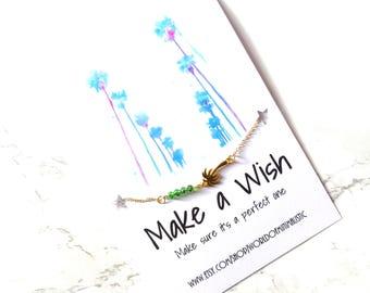 Palm tree bracelet, dainty minimalist bracelet, tree bracelet, bohemian bracelet, delicate bracelet, wish bracelet, friendship bracelet