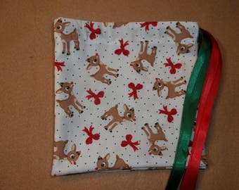 Rudolph the Red Nose Reindeer  drawstring gift/treat/goody/storage bags