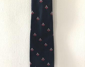Vintage Navy Freemasons Necktie masonic