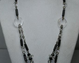 Art Deco Beaded Glass Necklace