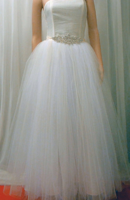 Tulle Skirt Wedding Gown