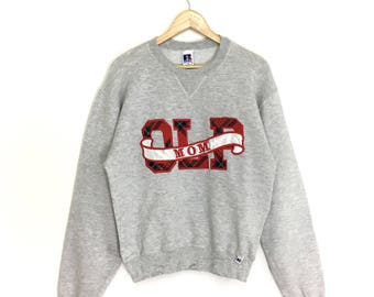 Rare!! Vintage 90s Russell Athletic Sweatshirt Crewneck Nice Design Small Size