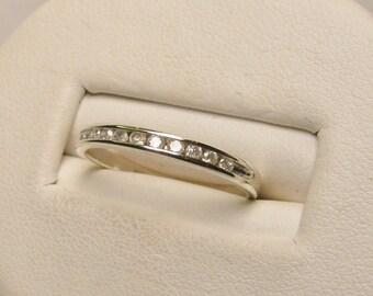Diamond Anniversary or Wedding Band Set in 10k White Gold