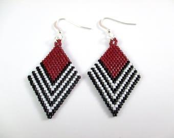 Chevron Diamond Weaved Earrings