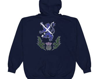 Custom Scottish Clan Badge Saltire Zip Hoodie