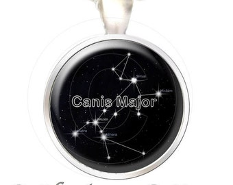 Greyhound Pendant, Canis Major Constellation - Your Choice of Finish