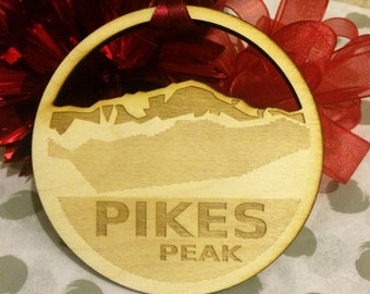 FREE SHIPPING *** Pikes Peak *** Mountain Christmas Holiday Ornament ***