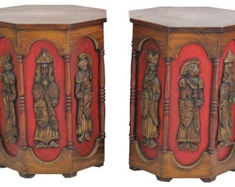 Pearsall Attributed Octagonal Side Tables - A Pair
