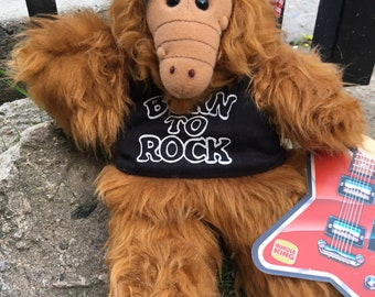 """Vintage """"Born to Rock"""" Alf Hand-Puppet"""