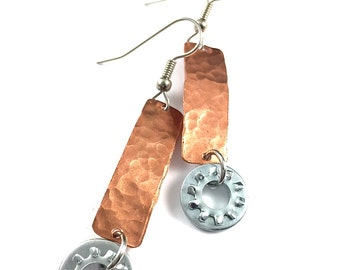 Dangle Earring Copper Hardware Jewelry Industrial Eco Friendly