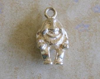 Humpty Dumpty Disney Dwarf Gnome Elf Smiling Man Solid Sterling Silver Bracelet Charm