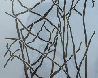 BRANCHES Tree  Stencil Girl laser cut stencil  9 x 12