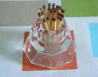 Art Deco Crystal Match Strike - Facets and Ribs, So Many Angles, So Many Surfaces for Light to Bounce Off.