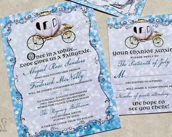 Cinderella Wedding Invitation Kit cinderella wedding