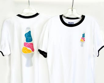 Psychedelic Lava Lamp Ringer Tee