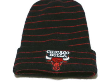 Chicago Bulls Beanie Snow Hat Skull Cap Made in USA Bitcoin Accepted