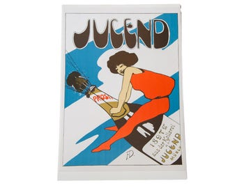 German Champagne Poster Lithograph