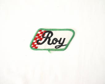 Vintage Work Shirt Name Roy Sew-On Patch Fabric Sewing
