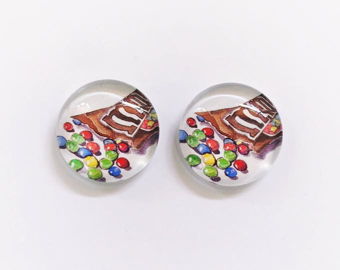 The 'MnM's' Glass Earring Studs