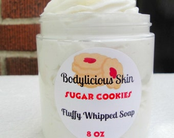 Fluffy Whipped Soap - Sugar Cookies 2 oz, 4 oz and 8 oz  Vegan Whipped Soap