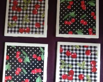 Cheery Cherry Coasters