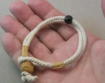 beaded toggle bracelet of handmade bead and rope one button toggle cuff bracelet rope bracelet 4071