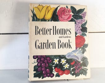 1951 Better Homes and Gardens Garden Book/Farmhouse Kitchen Vintage Gardening Reference Book/Shabby Chic 1950's Gardening Book