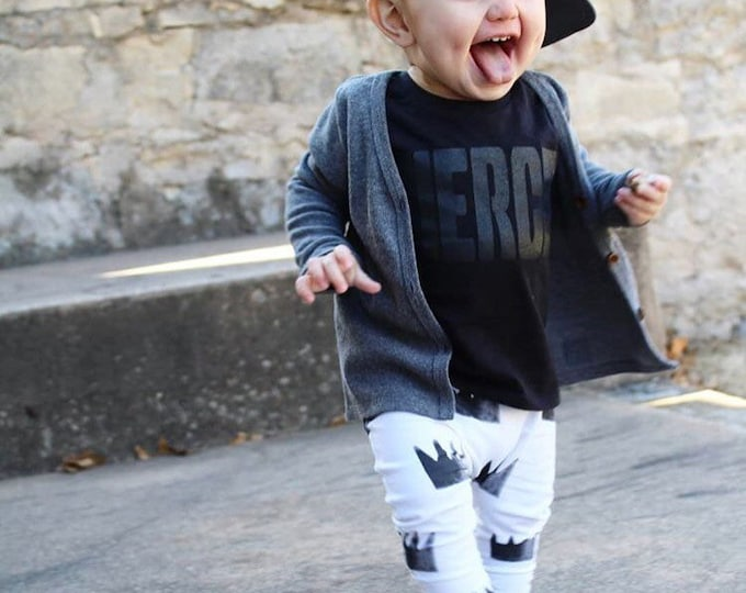 Featured listing image: Monochrome Crown Baby + Toddler Harem Pants