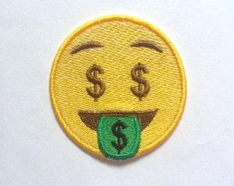 Money-Mouth Face Emoji Patch