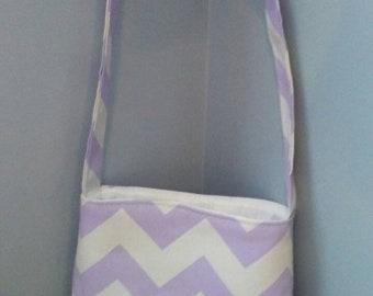 Purple stripe bag
