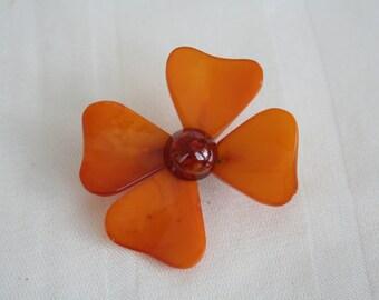 Vintage Dogwwod Flower Brooch