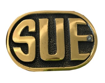 Vintage Sue Name Belt Buckle - Women's Gift Idea - Personalized - Mothers Day Gift Idea