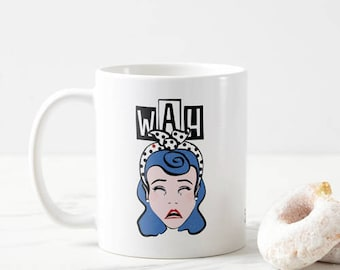 Custom 'WAH' coffee tea mug