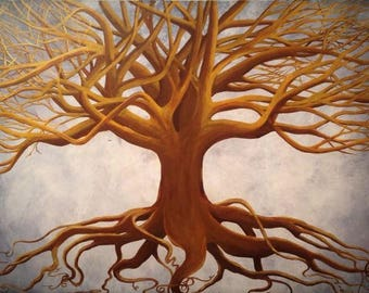 Painting called 'Golden Tree of Life'