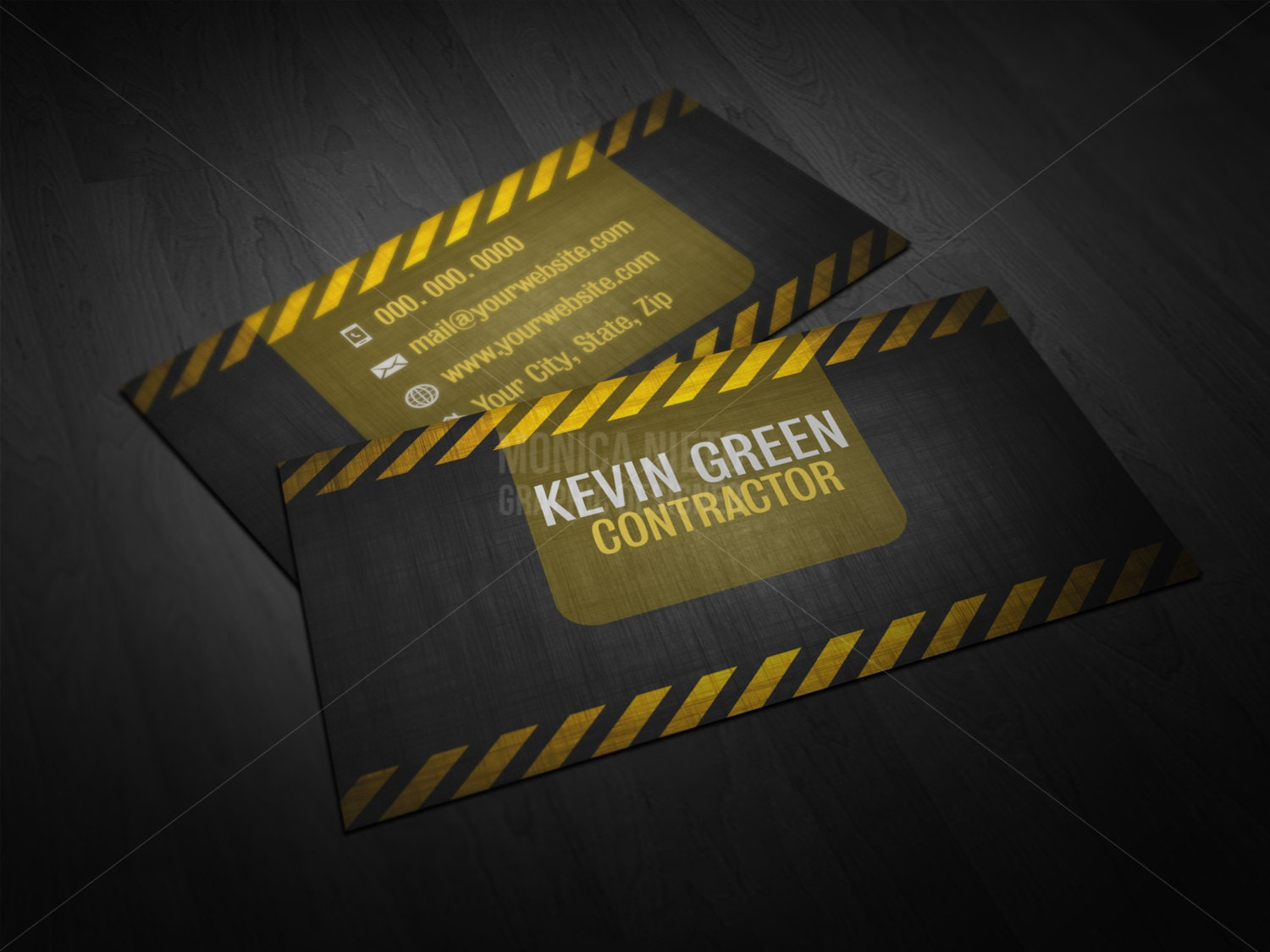 Printable custom general contractor business card builder zoom fbccfo Images