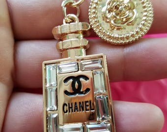 Handmade charms charm keychain one of a kind elegant fancy diva