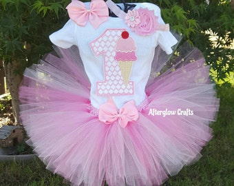 First Birthday Ice Cream Tutu Set
