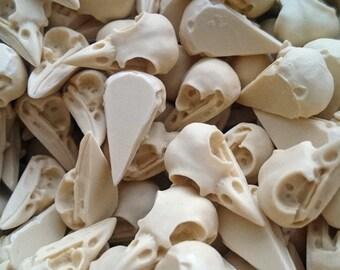 Wholesale bird skulls 21mm ivory Bird Skull Cabochon - 60 pieces