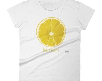 Lemon T-Shirt - Womens - Foodie - Chef - Organic